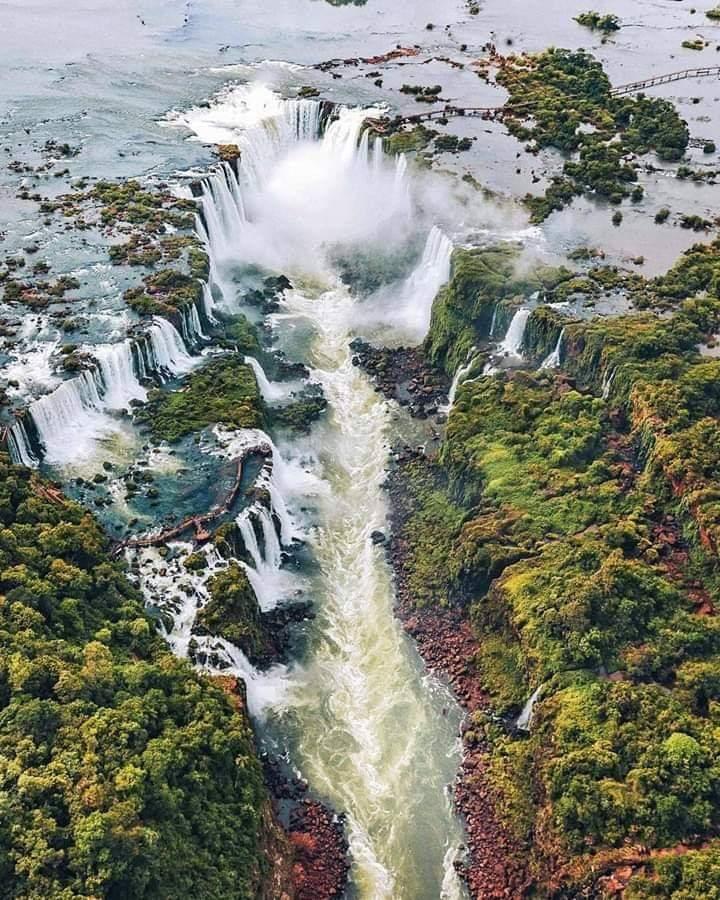 Vista aérea de las Cataratas